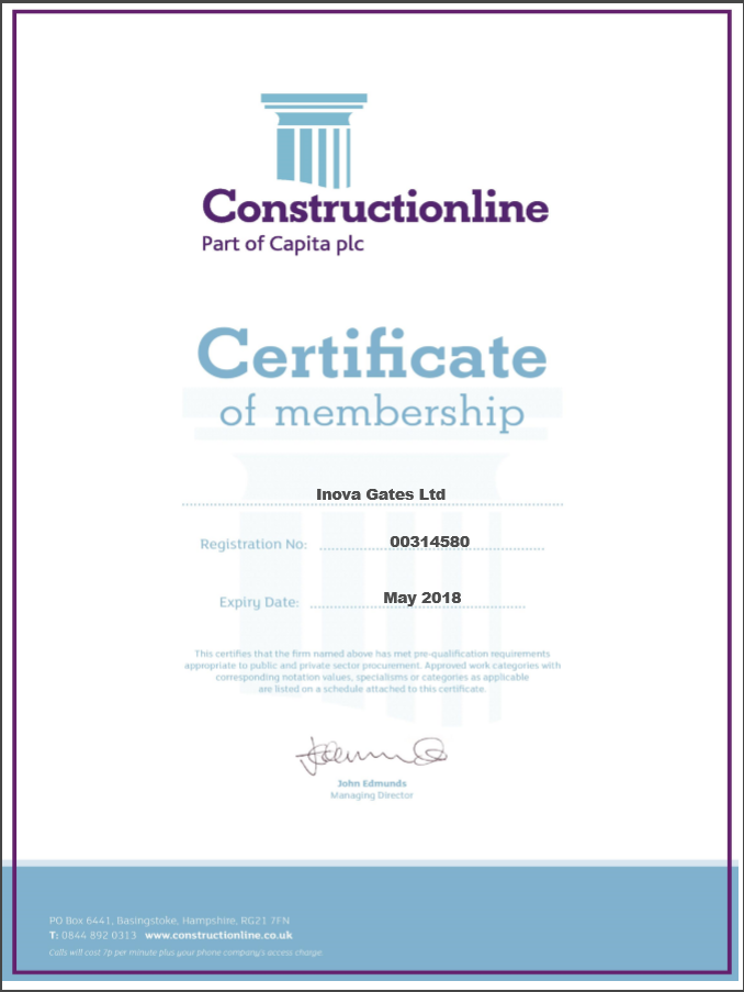 Construction Certificate